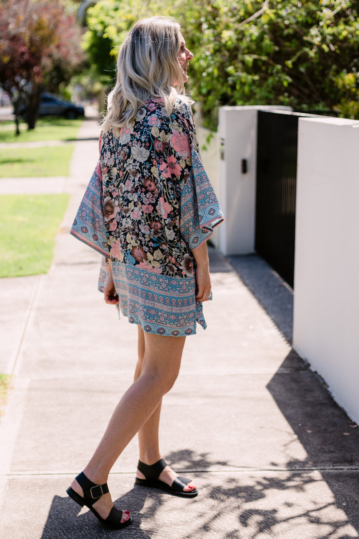Belle Kimono - Boho Blue | Mabel and Woods | Women's Fashion
