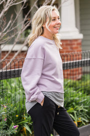 Crop Sweater - Lilac