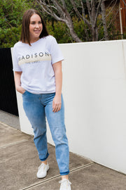 The Madison Tee - White | Mabel and Woods | Women's Fashion