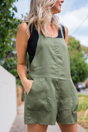 Ellie Romper - Khaki | Mabel and Woods | Women's Fashion