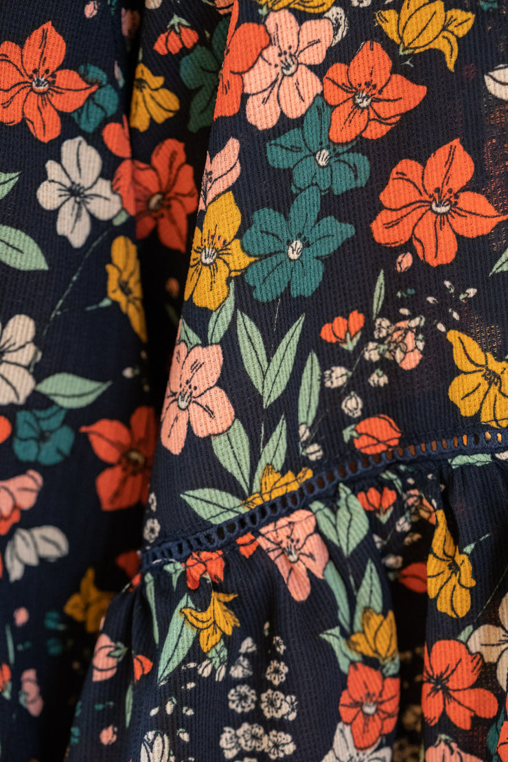 Layla Dress - Navy Floral | Mabel and Woods | Women's Fashion