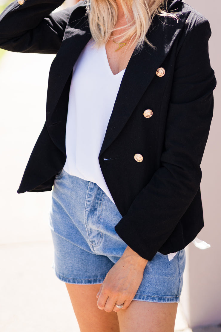 Cool Nights Linen Look Blazer | Mabel and Woods | Women's Fashion