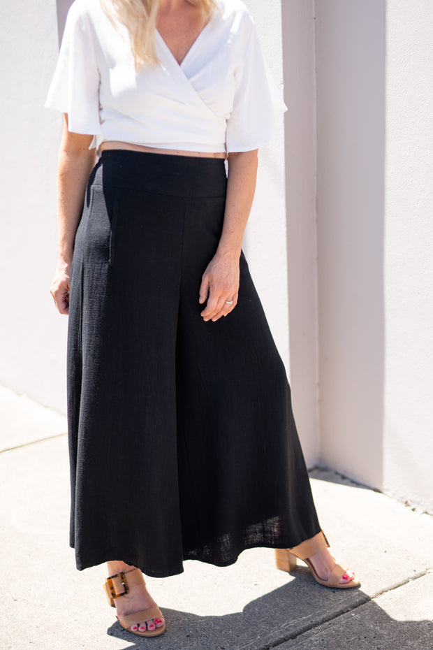 Maia Culottes - Black | Mabel and Woods | Women's Fashion