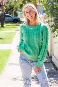 Lucy Cable Knit - Lime