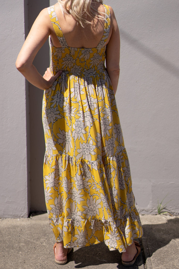 Byron Maxi Dress - Mustard | Mabel and Woods | Women's Fashion