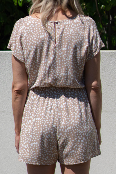 Florida Playsuit - Beige/White