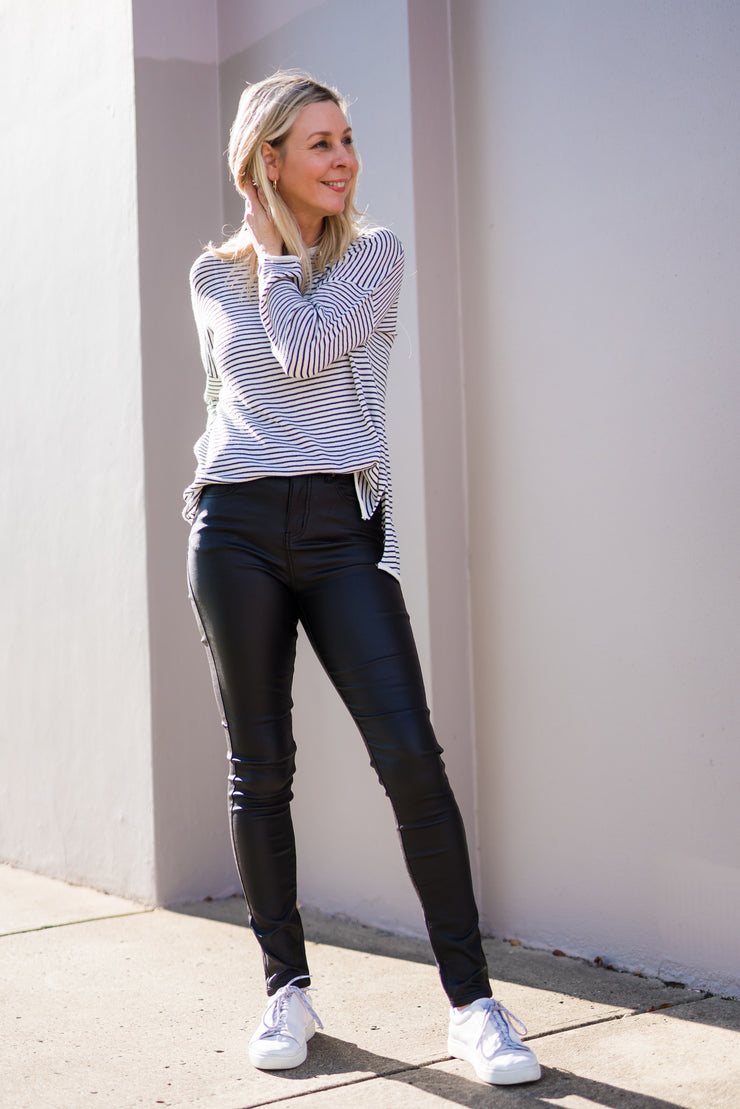 Zeppelin Coated Jean | Mabel and Woods | Women's Fashion