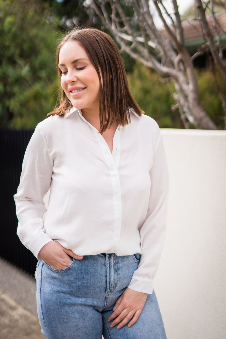 Lee Shirt - White | Mabel and Woods | Women's Fashion