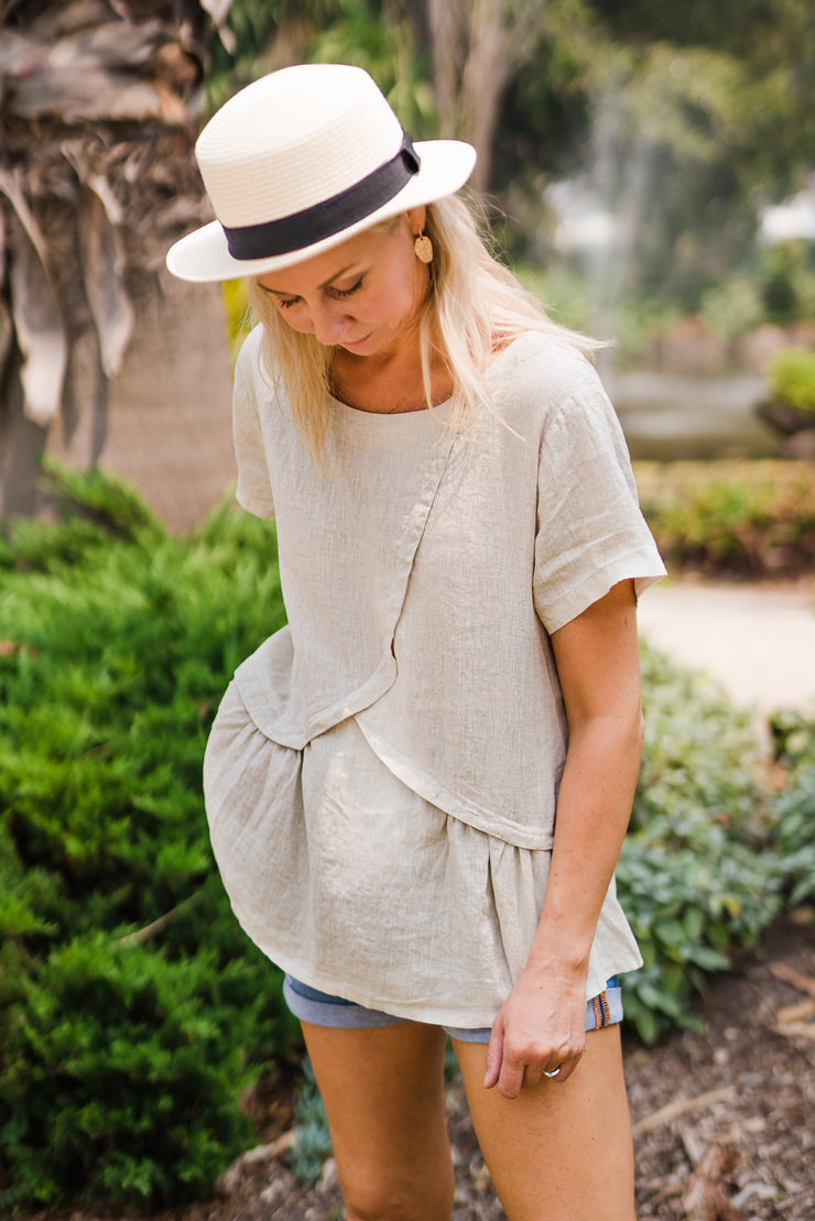 Nova Linen Top | Mabel and Woods | Women's Fashion