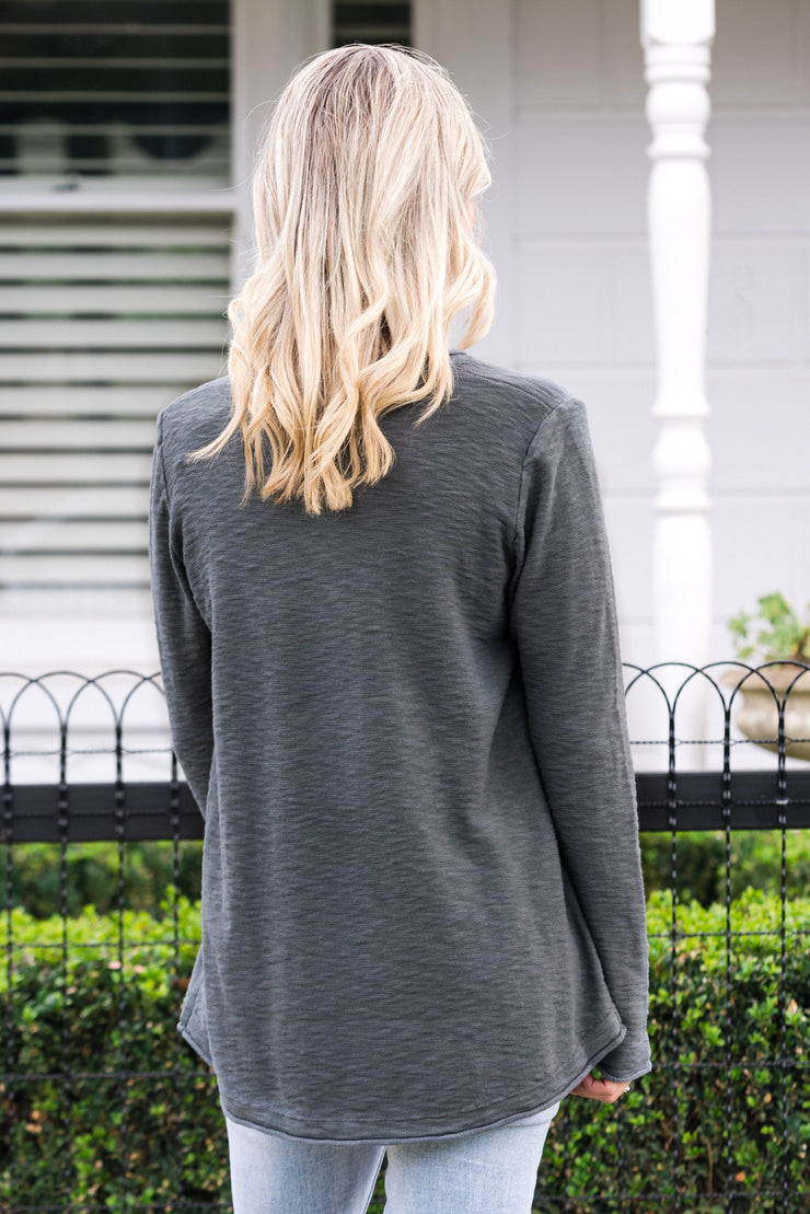 Run About Knit - Charcoal | Mabel and Woods | Women's Fashion