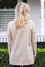 Creme Jumper - Sand | Mabel and Woods | Women's Fashion