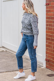 Bobble Knit - Grey | Mabel and Woods | Women's Fashion