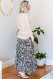 Phoebe Tiered Skirt - Leopard