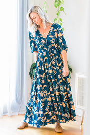 Chandler Dress - Teal Floral