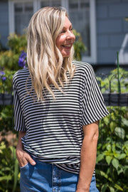 Malta Stripe Tee | Mabel and Woods | Women's Fashion