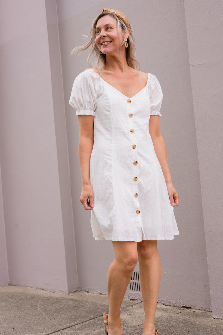 Dante Dress - White | Mabel and Woods | Women's Fashion