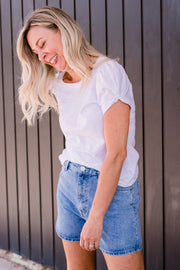 Charlotte Tee - White | Mabel and Woods | Women's Fashion