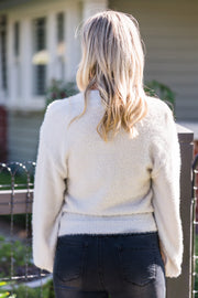 Gemma Fluffy Knit - Dove | Mabel and Woods | Women's Fashion