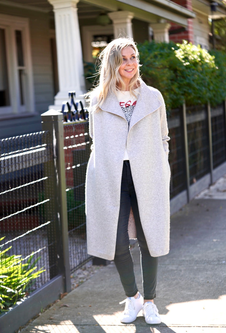 Pia Coatigan - Grey | Mabel and Woods | Women's Fashion