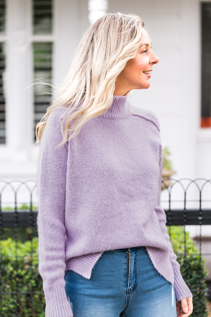 Funnel Knit - Lilac