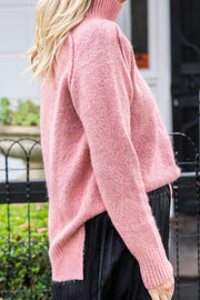 Funnel Knit - Salmon Pink