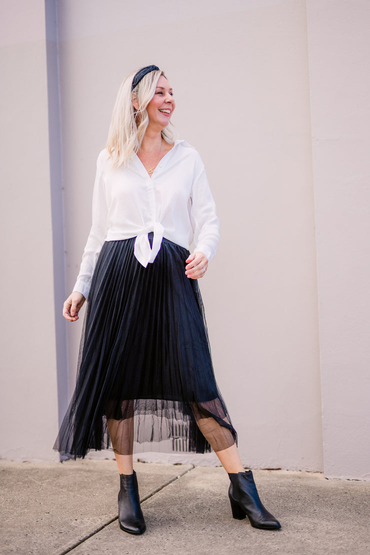 Carrie Skirt - Black | Mabel and Woods | Women's Fashion
