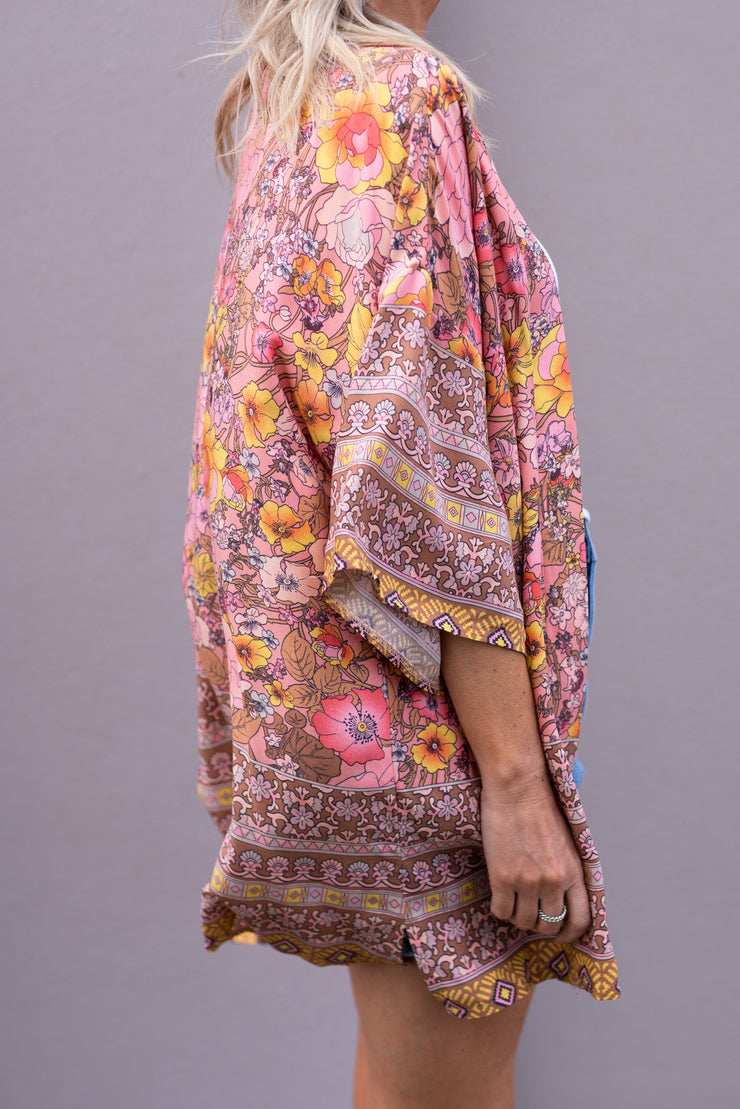 Belle Kimono - Coral | Mabel and Woods | Women's Fashion