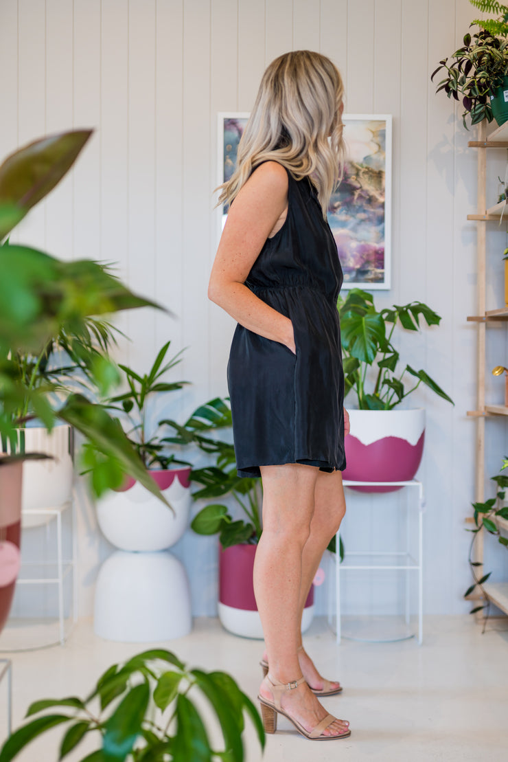 Smooth Talker Romper - Black | Mabel and Woods | Women's Fashion