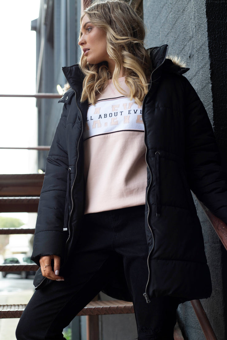 A.A.E. Varsity Crew - Blush | Mabel and Woods | Women's Fashion