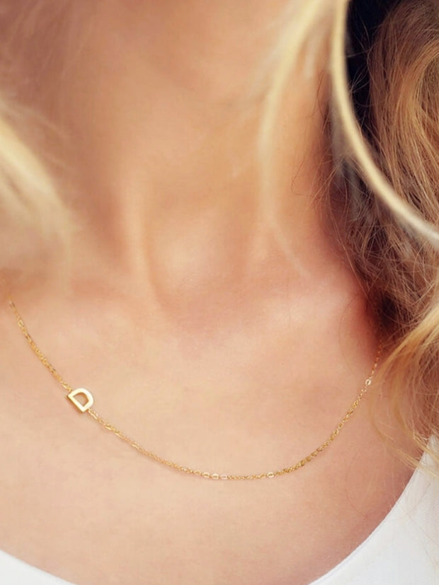 Mini Gold Initial Necklace | Mabel and Woods | Women's Fashion