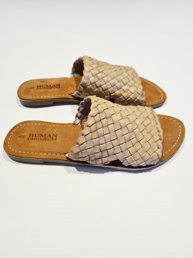 Eaton Leather Slide - Natural