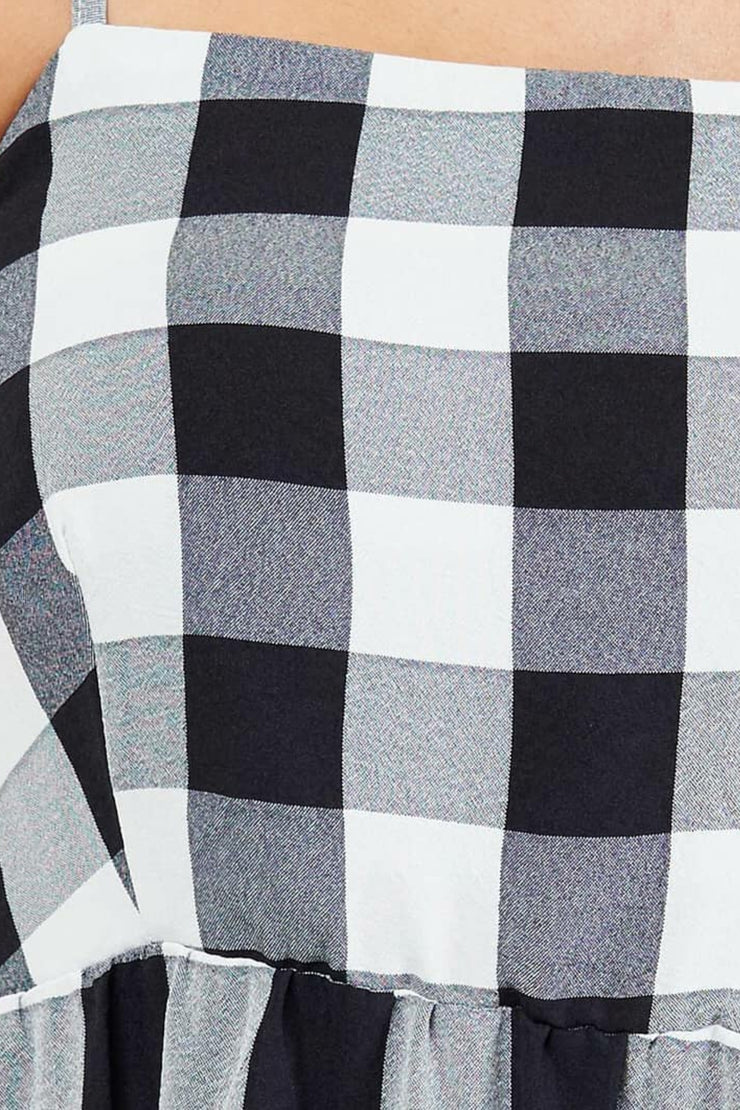 Le Grande Dress - Black and White Check