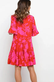 Marlo Dress - Red/Pink