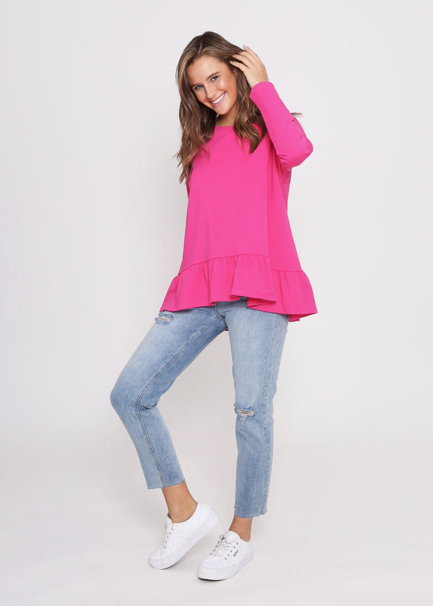 Amy Frill Top - Hot Pink