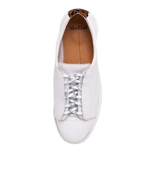Oarmie Leather Sneaker - White/Ocelot
