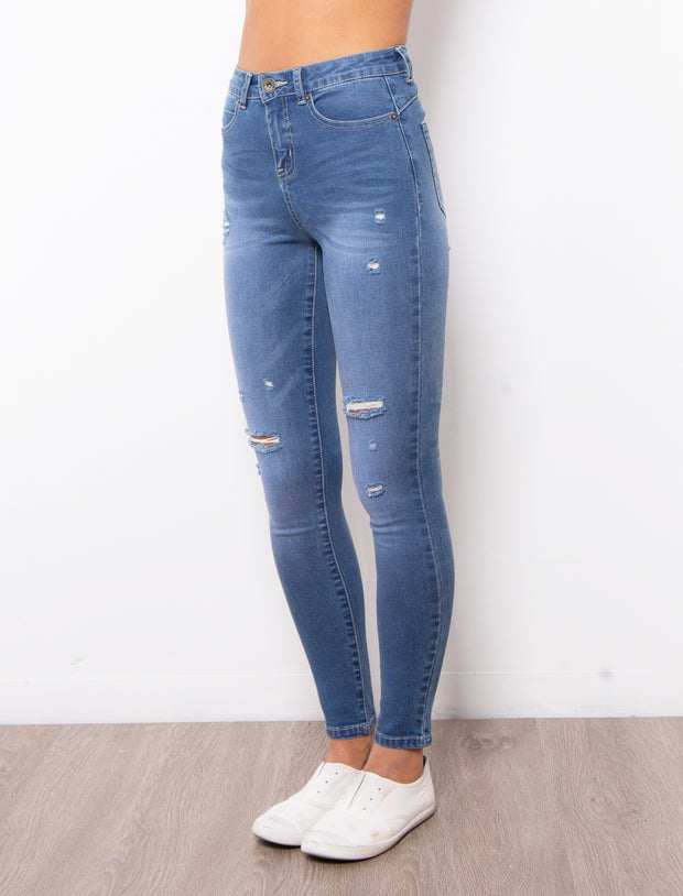 Kylie Jeans - Mid Blue | Mabel and Woods | Women's Fashion