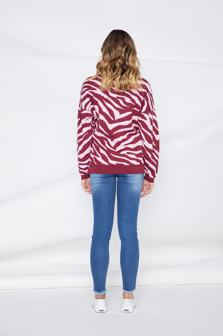 Tigre Animal Knit - Pink | Mabel and Woods | Women's Fashion
