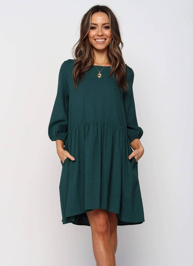 Ebby Tunic Dress Emerald