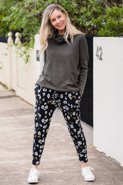 Josie Joggers - Black Leopard | Mabel and Woods | Women's Fashion