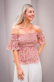 Olina Top - Floral | Mabel and Woods | Women's Fashion