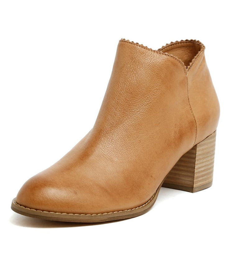 Sharon Leather Ankle Boot - Tan | Mabel and Woods | Women's Fashion