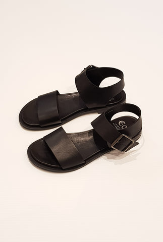 Gunny  Sandal - Black Leather