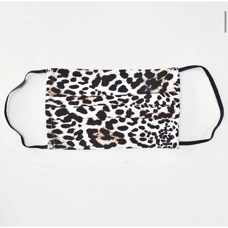 Pleated Face Mask - Dark Leopard