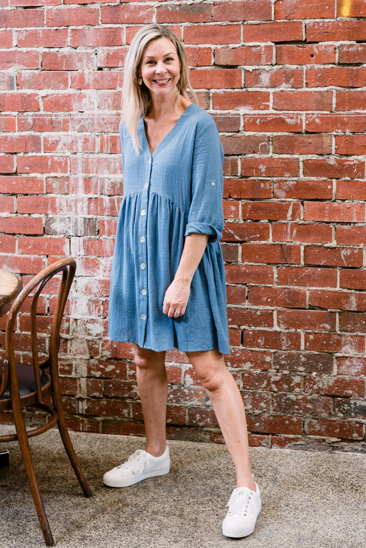 The Weekender Dress - Blue | Mabel and Woods | Women's Fashion