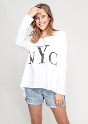 Frankie NYC Sequin Top - White
