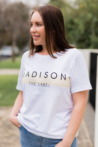 The Madison Tee - White