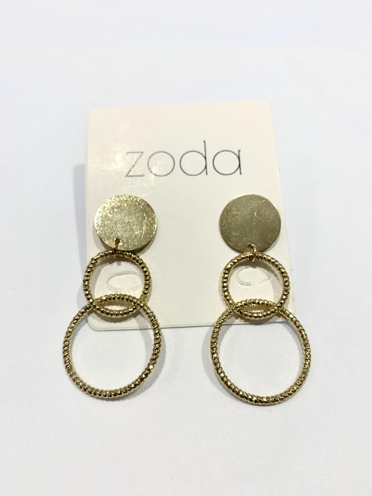 Zoda Francis Gold Earrings | Mabel and Woods | Women's Fashion