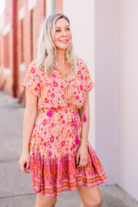 Luella Dress - Rust Print