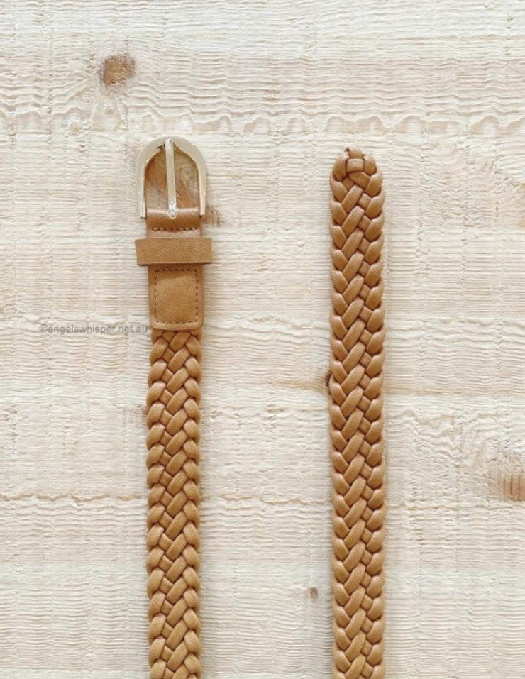 Rosie Plaited Belt - Tan