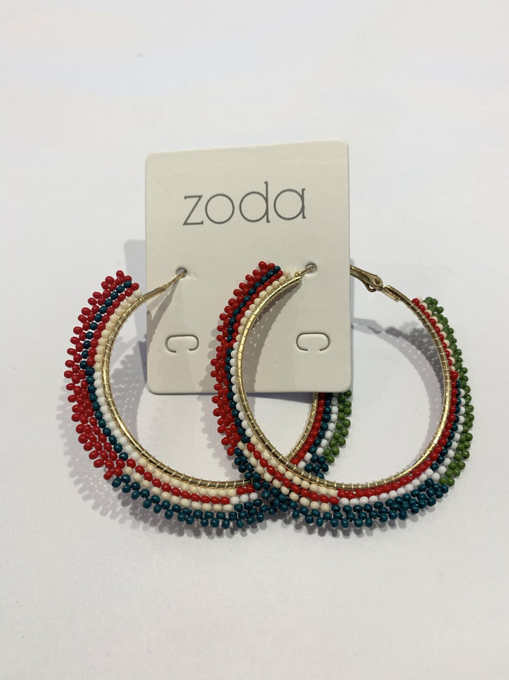 Zoda Jessica Earrings - Red and Green | Mabel and Woods | Women's Fashion